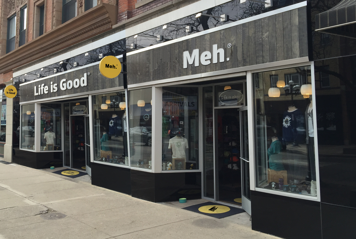 "Main Street Retailer ""Life is Good"" Expands, Launches New Brand ""Meh."""